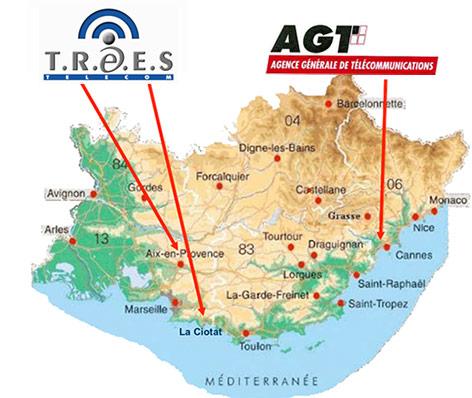 Carte agence Trees Telecom